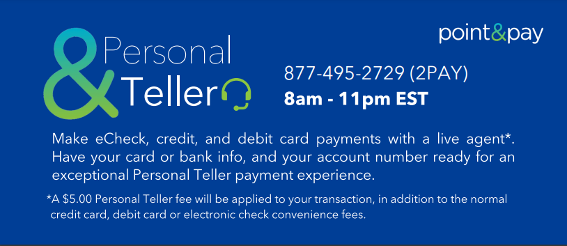 Point and Pay Personal Teller Image
